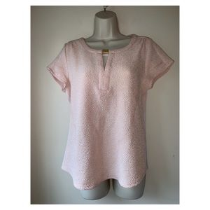Calvin Klein | pink textured top Petite Large